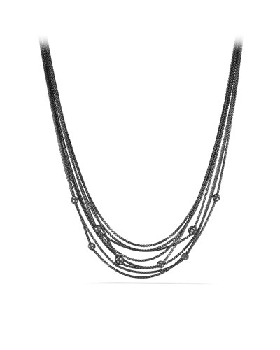 Midnight M??lange Chain Necklace with Diamond Beads