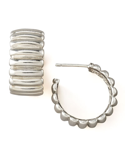 Bedeg Silver Hoop Earrings, Small