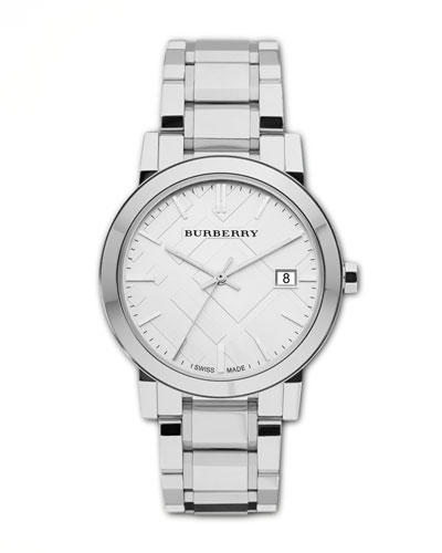 Polished Check Sunray Watch