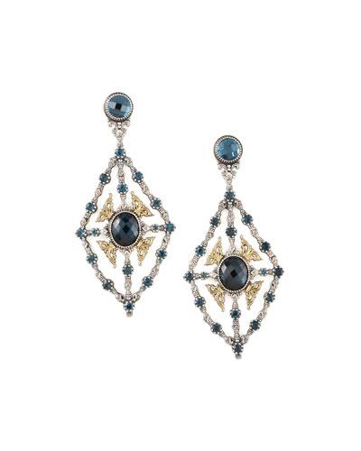 London Blue Topaz Chandelier Earrings