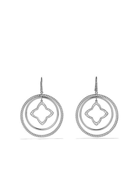 Quatrefoil Large Earrings With Diamonds