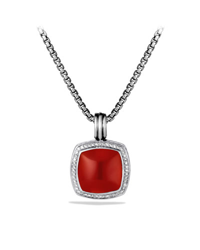 Albion Pendant with Carnelian and Diamonds