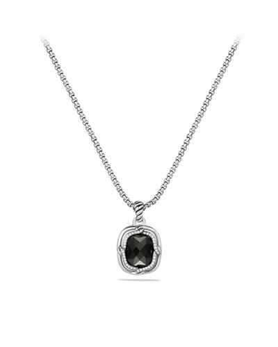 Labyrinth Small Pendant with Black Onyx and Diamonds