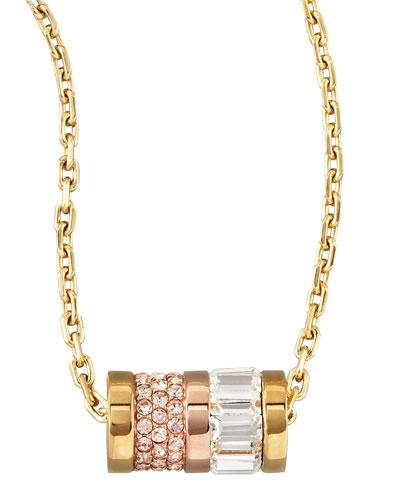 Barrel Pendant Necklace, Golden