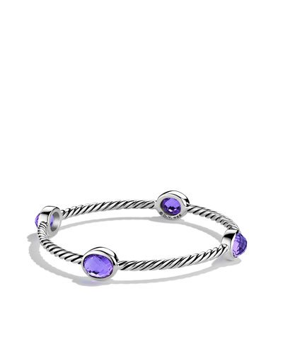 Color Classics Four-Station Bangle with Amethyst