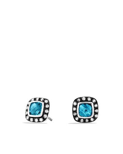 Petite Albion Earrings with Hampton Blue Topaz and Diamonds