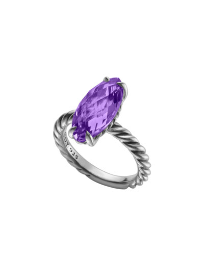 Color Classics Ring, Amethyst, 18x8mm