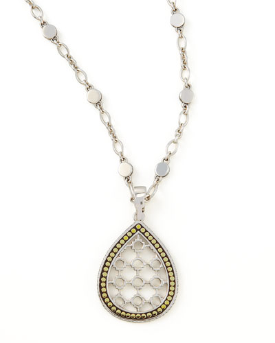 Dot Teardrop Pendant Necklace