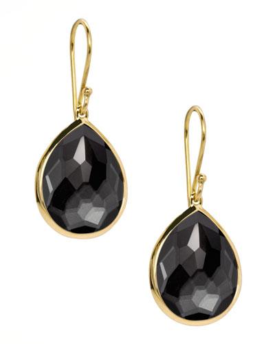 Rock Candy Teardrop Earrings, Hematite