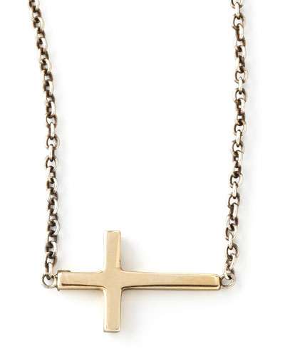 Integrated Gold Cross Pendant Necklace