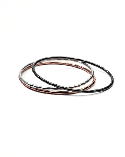 Wicked Mixed-Metal Bangles, Set of Three