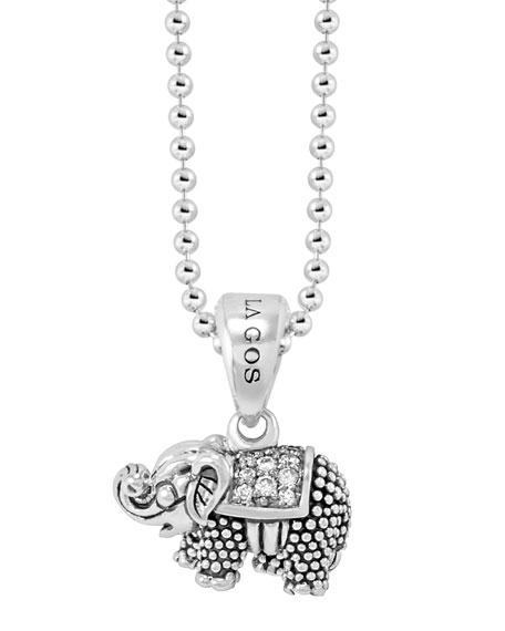 Lagos rare wonders diamond elephant pendant necklace mozeypictures Images