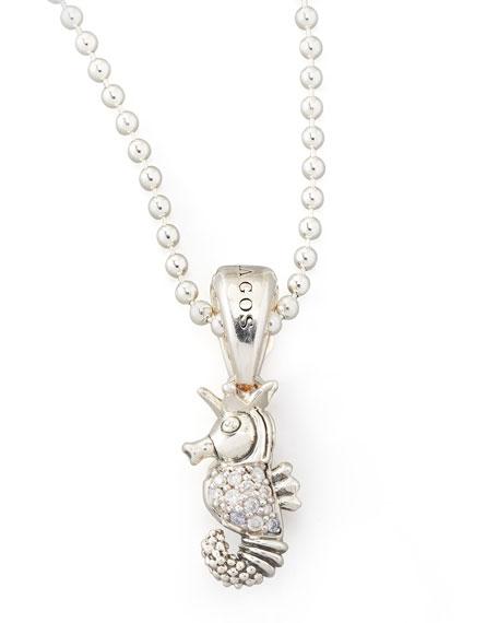 Lagos rare wonders diamond seahorse pendant necklace mozeypictures Images
