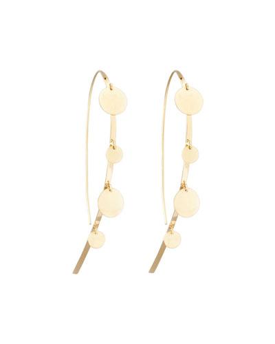 Small Gypsy Hook-On Hoop Earrings