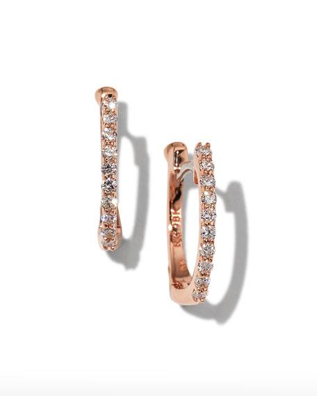 Roberto Coin Baby Hoop Diamond Earrings rDYCwXdGz