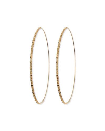 14k Large Glam Magic Hoop Earrings
