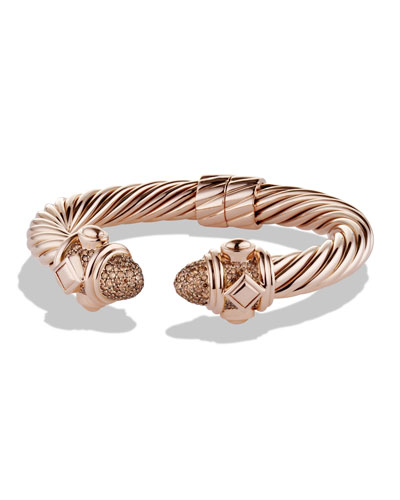 Rose Gold Renaissance Bracelet with Cognac Diamond