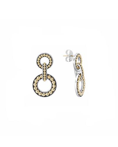 Sterling Silver & 18k Enso 2-Circle Earrings