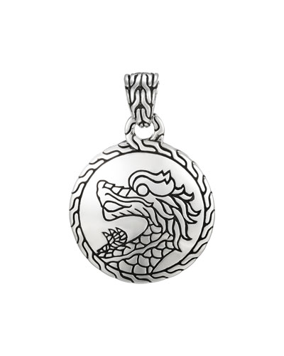 Classic Chain Silver Heritage Round Pendant