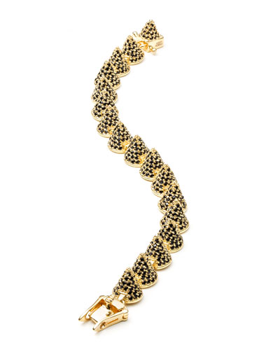 Gold-Plated Pave Crystal Cone Bracelet