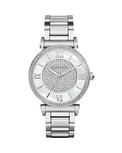 Caitlin Rhinestone Stainless Steel Watch