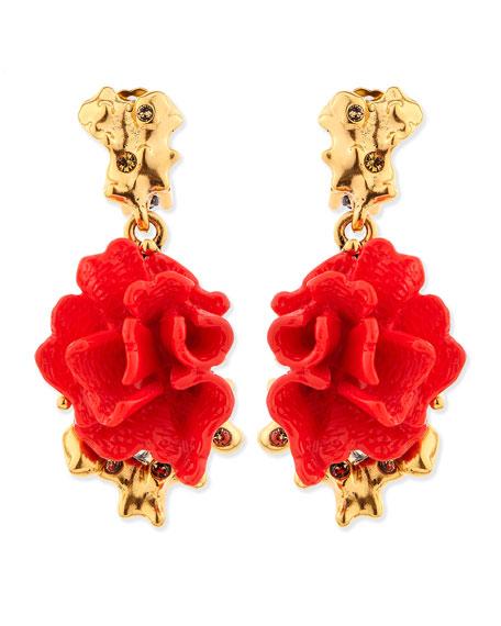 Oscar De La Renta Falling clip-on earrings eFBfNh0