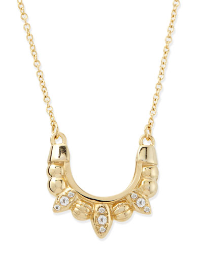 Gold-Plated Mini Tribal Spike Necklace