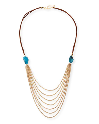 Suede Multi-Chain Necklace