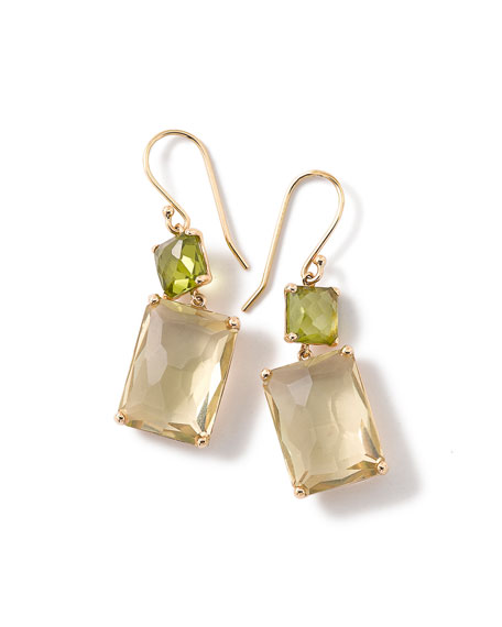 citrine double drop earrings multicolor jewelry lemon yurman multigold with product lyst normal chatelaine prasiolite gallery david and