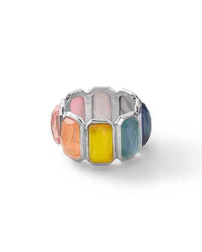 Wonderland Silver Brick Ring