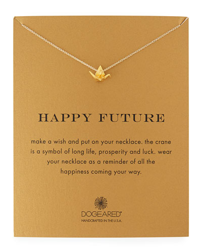 Happy Future Gold-Dipped Pendant Necklace