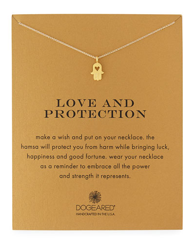 Love & Protection Gold-Dipped Pendant Necklace