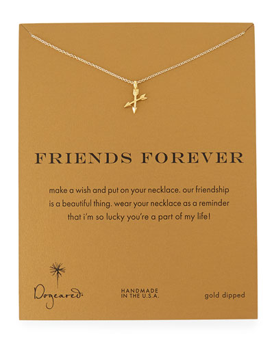 Friends Forever Gold-Dipped Pendant Necklace