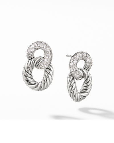 Belmont Drop Earrings with Diamonds
