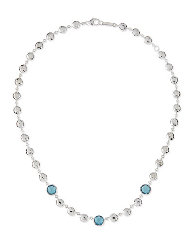 Silver Rock Candy Multi-Stone Necklace in London Blue Topaz, 17""