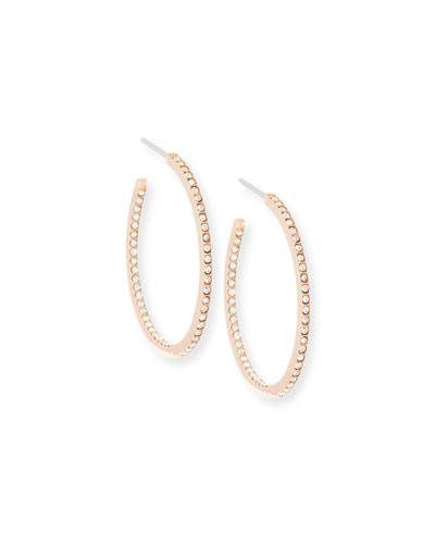 Pave Small Inside Out Hoop Earrings