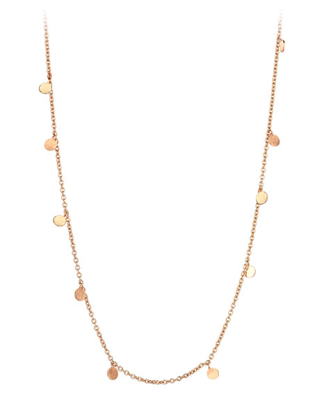 Kismet by Milka Seed Dangling Circle Necklace in 14K Rose Gold XN8NGb0