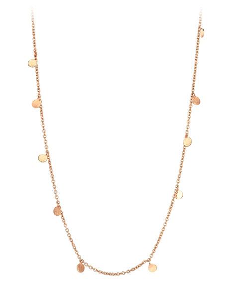 Kismet by Milka Seed Dangling Circle Necklace in 14K Rose Gold Jt1vBg