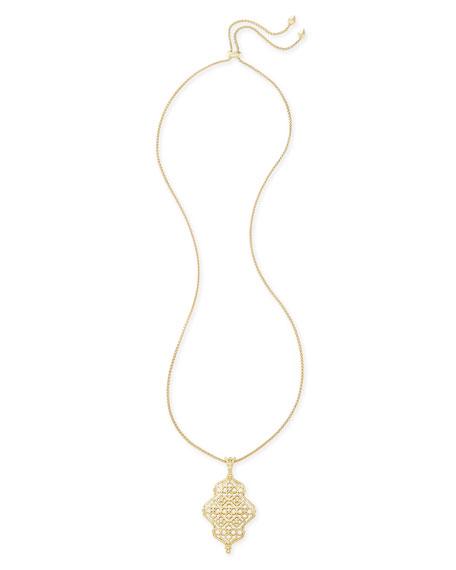 Kendra Scott Kathy Latticework Pendant Necklace, 34