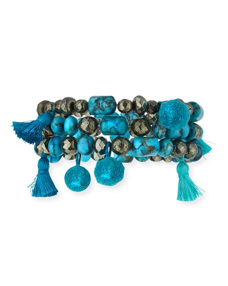 Hipchik Eleanor Set of Three Beaded Bracelets 77Ph9