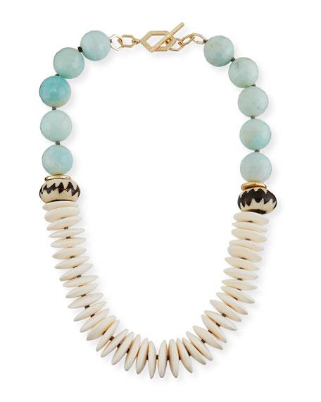 Akola Short Multi-Bead & Tassel Necklace 6Tp75OS