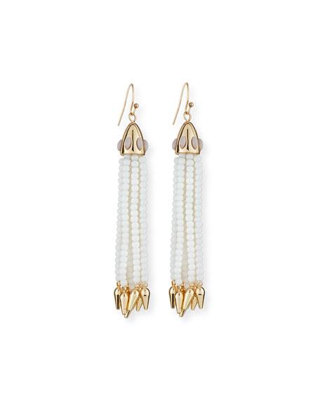 Lulu Frost Beaded Metallic Tassel Drop Earrings mLBQsve4
