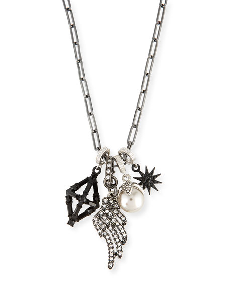Lulu Frost Crystal Star & Wing Charm Necklace QVuCbmXfs