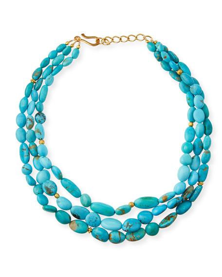 Dina Mackney Three-Strand Turquoise Necklace 3F1859