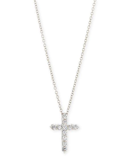 Fantasia Large CZ Cross Pendant Necklace rSSFuWHO5X