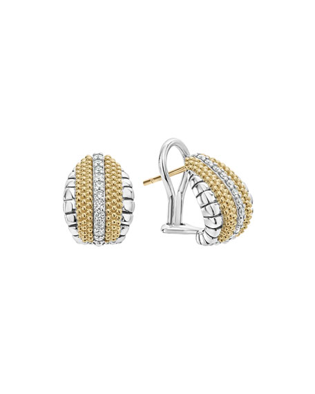 Lagos Lux Small Shrimp Earrings with Diamonds