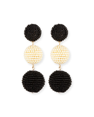 Two-Tone Seed Bead Sparkle Earrings