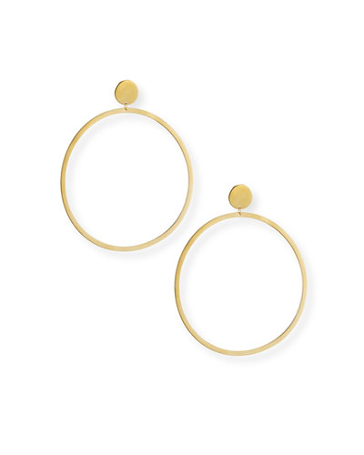 Cleo Circle Stud Hoop Earrings in 18K Gold Plate