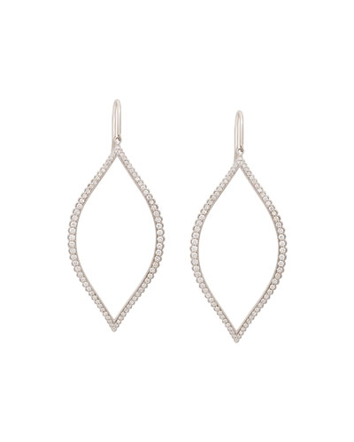 Diamond Marquis Leaf Drop Earrings