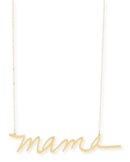 Brevity Mama Large Pendant Necklace cJ16ZcsUI